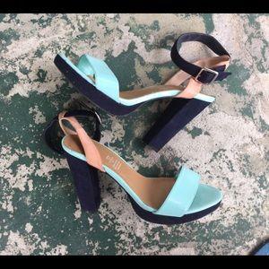 H&M Platform Colorblock Heels